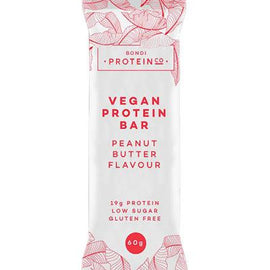 Bondi Protein Co Vegan Protein Bar 60g Peanut Butter - 10 Pack