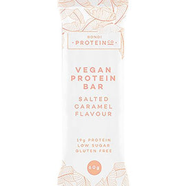 Bondi Protein Co Vegan Protein Bar 60g Salted Caramel - 10 Pack