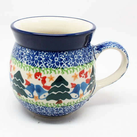 polish-pottery-8oz-bubble-mug-#1756