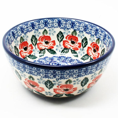 polish-pottery-dessert-bowl-#1490