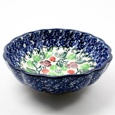 polish-pottery-mini-scalloped-bowl-#1418