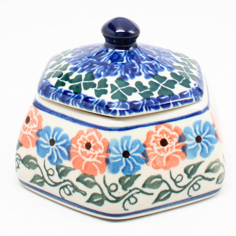polish-pottery-octagonal-trinket-box-#1369