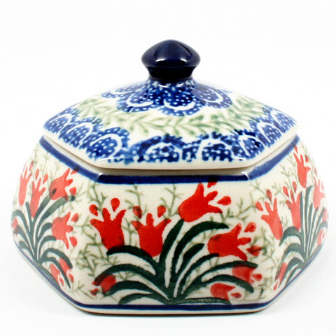 polish-pottery-octagonal-trinket-box-#1437