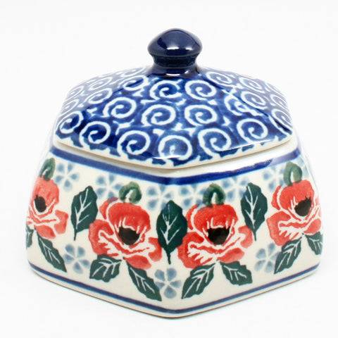 polish-pottery-octagonal-trinket-box-#1490
