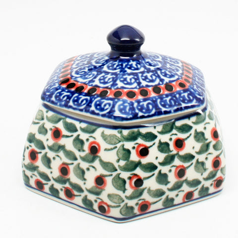 polish-pottery-octagonal-trinket-box-#1543