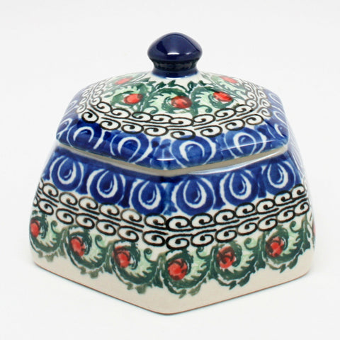 polish-pottery-octagonal-trinket-box-#1624
