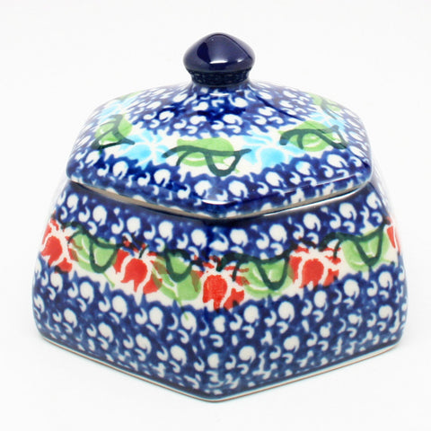 polish-pottery-octagonal-trinket-box-#1725