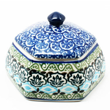 polish-pottery-octagonal-trinket-box-#1858