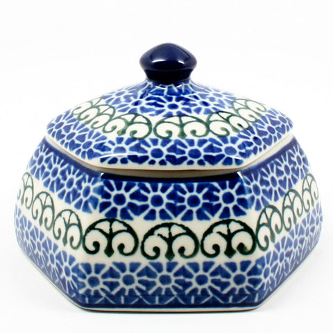 polish-pottery-octagonal-trinket-box-#826
