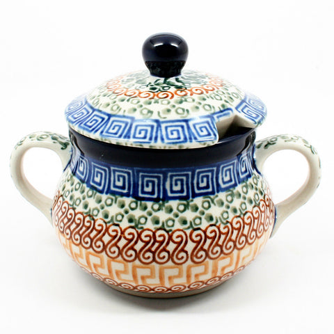 polish-pottery-sugar-bowl-#050