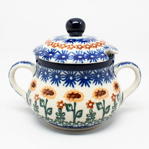 polish-pottery-sugar-bowl-#1207