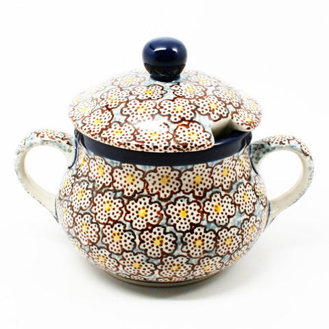 polish-pottery-sugar-bowl-#2113