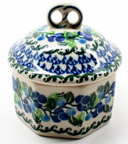 polish-pottery-mini-pretzel-box-#1416