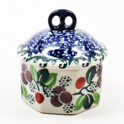 polish-pottery-mini-pretzel-box-#1418