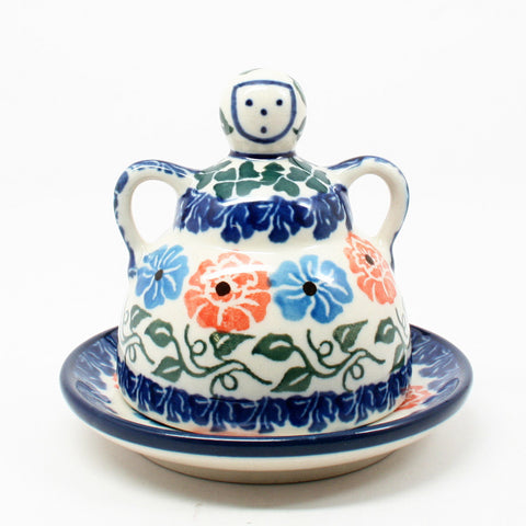 polish-pottery-mini-cheese-lady-#1369