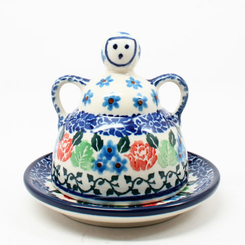 polish-pottery-mini-cheese-lady-#1498