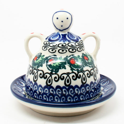 polish-pottery-mini-cheese-lady-#1624