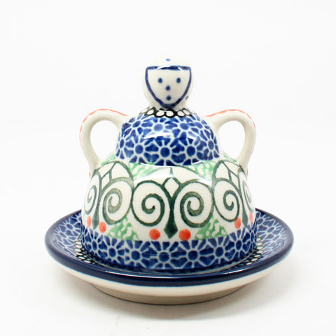 polish-pottery-mini-cheese-lady-#826