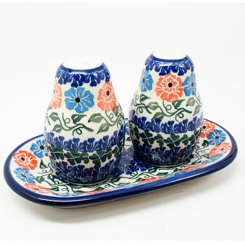 polish-pottery-salt-pepper-shaker-#1369
