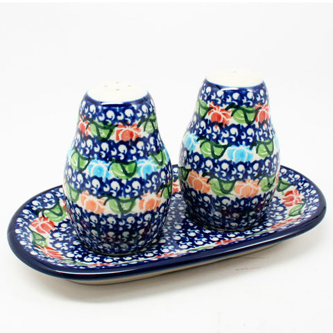 polish-pottery-salt-pepper-shaker-#1725
