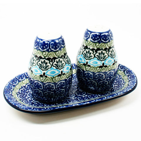 polish-pottery-salt-pepper-shaker-#1858
