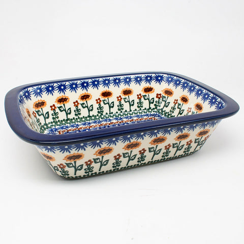 polish-pottery-large-rectangular-dish-#1207