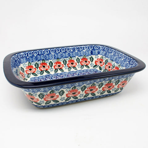 polish-pottery-large-rectangular-dish-#1490