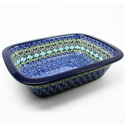 polish-pottery-large-rectangular-dish-#1858
