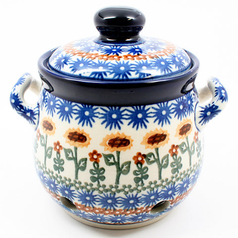 polish-pottery-garlic-keeper-#1207