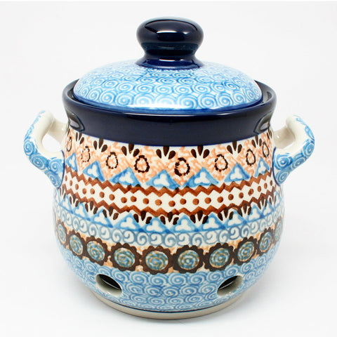 polish-pottery-garlic-keeper-#1359