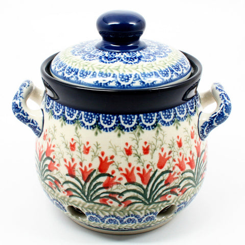 polish-pottery-garlic-keeper-#1437