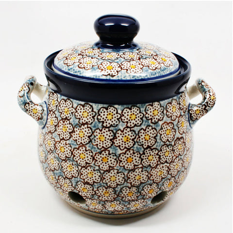 polish-pottery-garlic-keeper-#2113