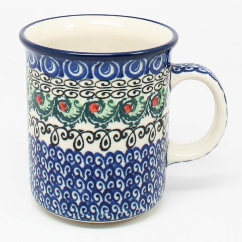 polish-pottery-8oz-straight-mug-#1624