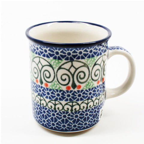 polish-pottery-8oz-straight-mug-#826