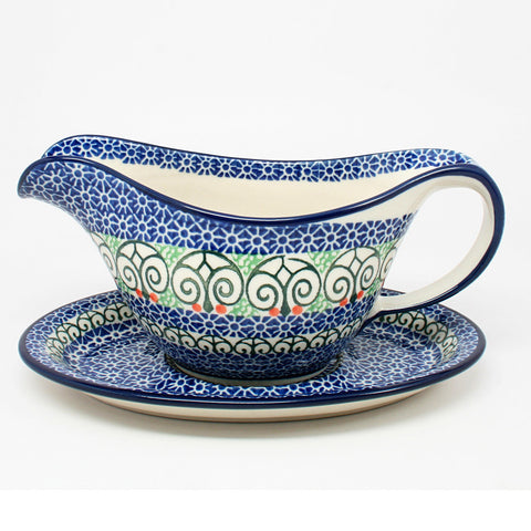 polish-pottery-gravy-boat-#826