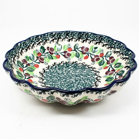 polish-pottery-small-scalloped-bowl-#1415
