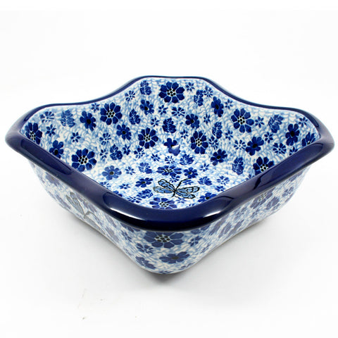 polish-pottery-square-wavy-dish-#1443