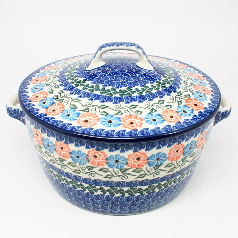 polish-pottery-covered-casserole-#1369