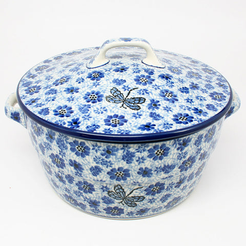 polish-pottery-covered-casserole-#1443