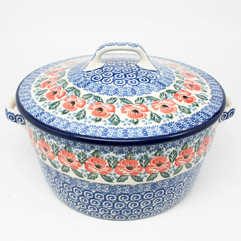 polish-pottery-covered-casserole-#1490