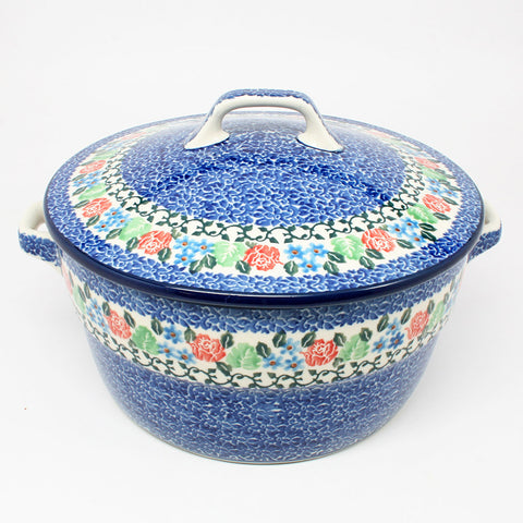 polish-pottery-covered-casserole-#1498