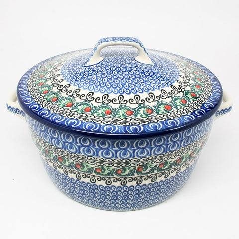 polish-pottery-covered-casserole-#1624