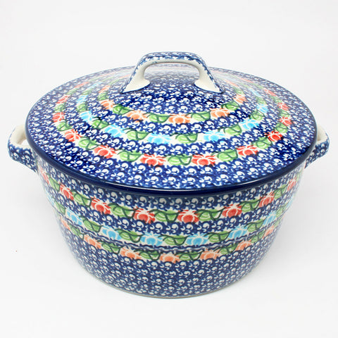 polish-pottery-covered-casserole-#1725