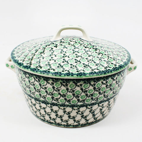 polish-pottery-covered-casserole-#1797