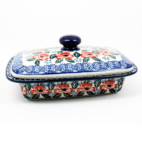 polish-pottery-butter-dish-#1490