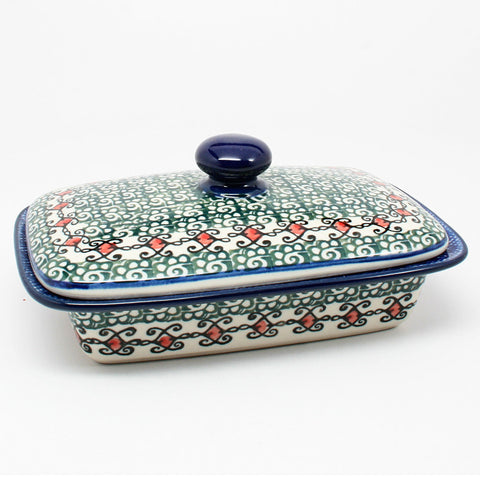 polish-pottery-butter-dish-#1624