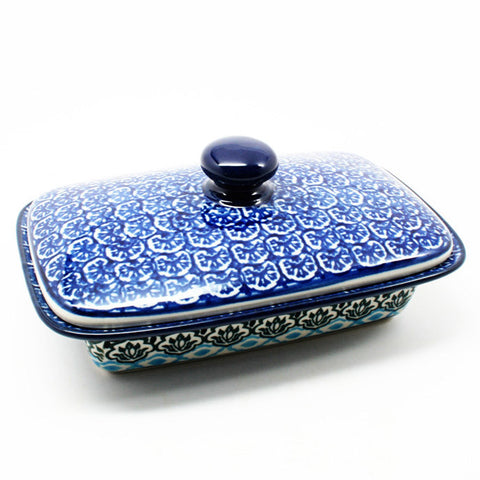 polish-pottery-butter-dish-#1858