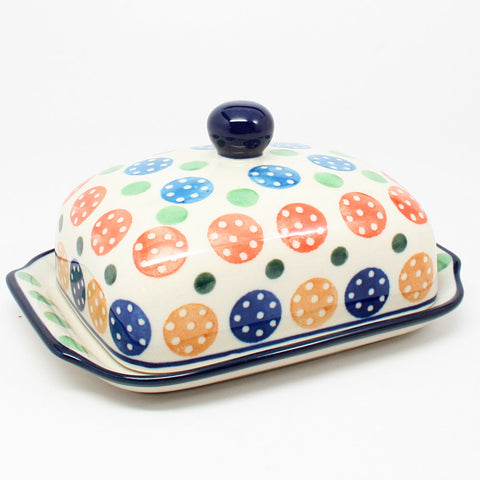 polish-pottery-euro-butter-dish-#1416