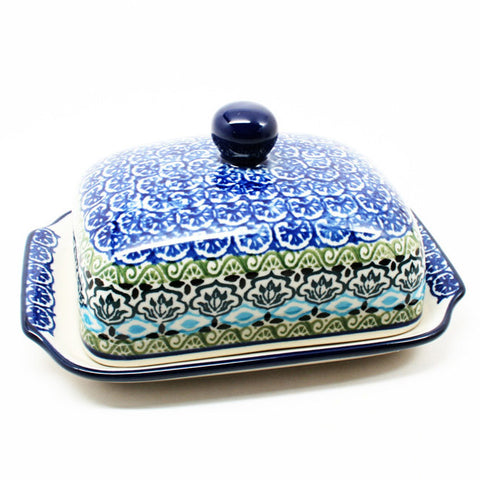 polish-pottery-euro-butter-dish-#1858