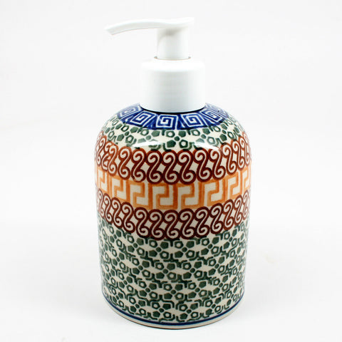 polish-pottery-soap-dispenser-#050